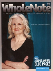 Christina Petrowska Quilico: Cover Story in The WholeNote Magazine