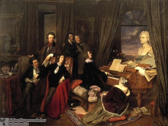 Franz Liszt Improvising at the Piano (1840)