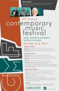 31st Annual Contemporary Music Festival