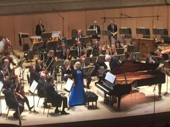 Christina Petrowska Quilico on stage with the TSO